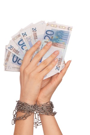doctor putting money: The arrested counterfeiter with the twenty false euro