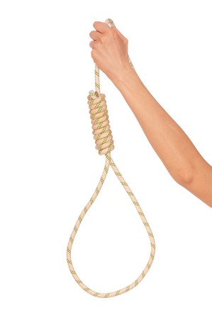 economic crisis force to suicide with rope photo