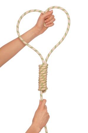 wirtschaftskrise: Wirtschaftskrise Kraft zum Selbstmord mit Seil
