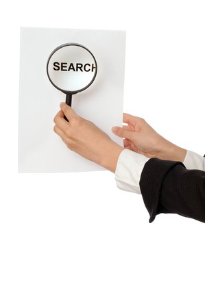 Detailed consideration of the document with searching good new idea for the new project Stock Photo - 8077086