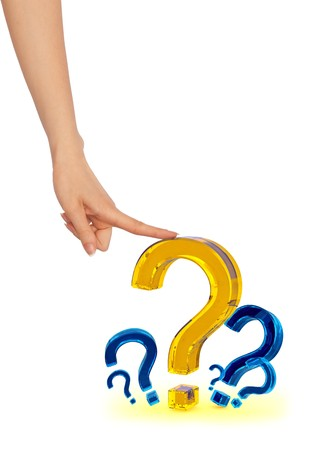 Person chooses the most important question in his life Stock Photo - 8207612