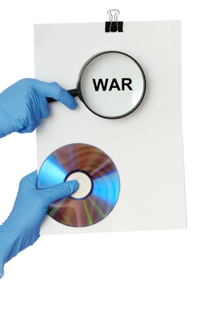 Detailed consideration of the document on possibility of new war Stock Photo - 8298846