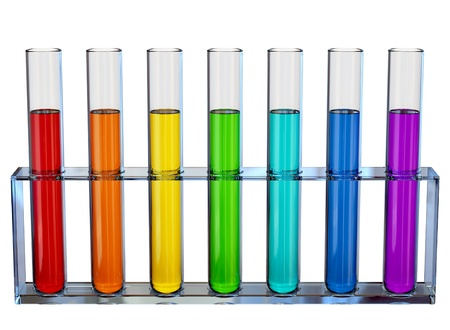 Samples of chemical liquids  in the tubes for experiments Stock Photo - 8573376