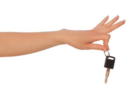 Key from a new house in the hand of woman Stock Photo - 8601930