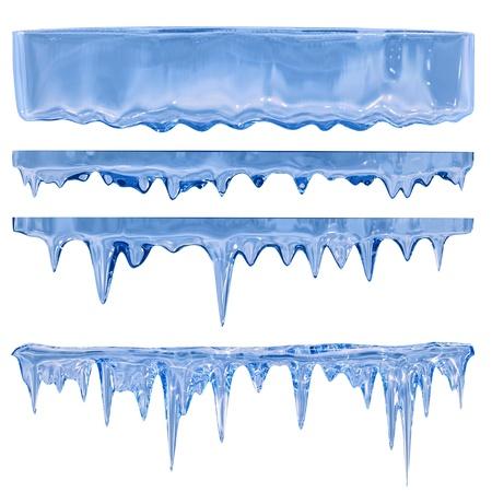 acute angle: Descongelaci�n congel�ndose de un tono azul con las gotas de agua
