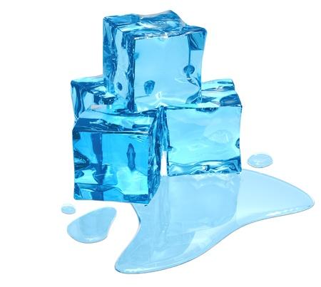 eiszeit: Auftauen Eis des blauen Schatten mit Wasser-Tr�pfchen
