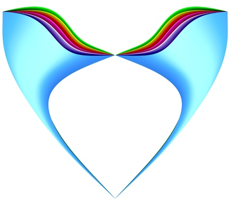 multi color abstract geometric figure folded in the heart shape Stock Photo - 9270876