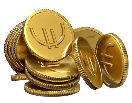 stack of gold coins for displaying a success in business Stock Photo