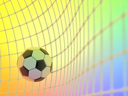 brings: Il pallone da calcio ha avuto modo di porta degli avversari e porta una vittoria