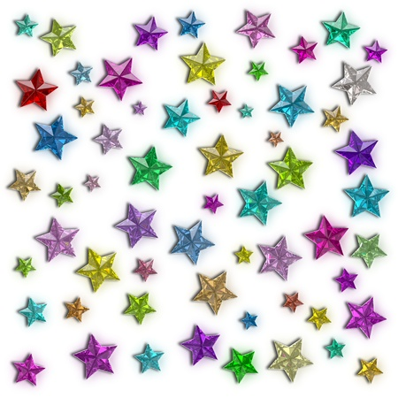 Colorful stars of the different sizes consisting of multi-colored shining gems Stock Photo - 10554857