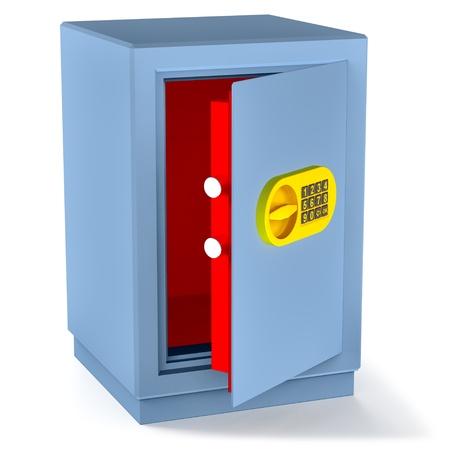 lockbox: small empty safe for money as a symbol risk bank money storage Stock Photo