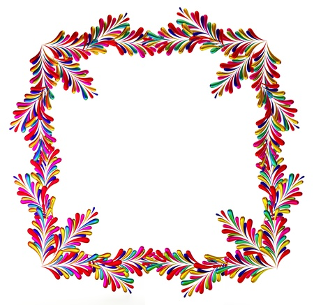 arranging: colorful abstract concept frame with many design elements on white background Stock Photo