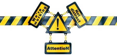 Shiny golden warning sign with exclamation mark and striped line Stock Photo - 15958144