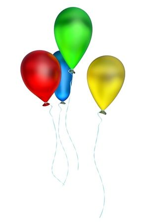 Flying Bunch Of Balloons With Helium For Holiday Royalty Free