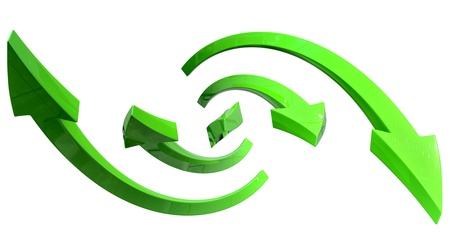 flechas curvas: elegantes flechas curvas para presentaciones de negocios en fondo blanco