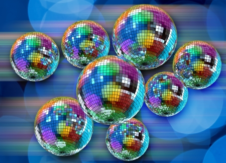 Illustration of dancing ball Stock Photo