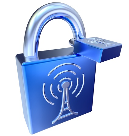 lock icons as symbol locked signals Stock Photo - 21497999