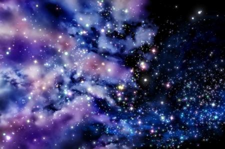 stars shine through the clouds of a new nebula Stock Photo - 21771773