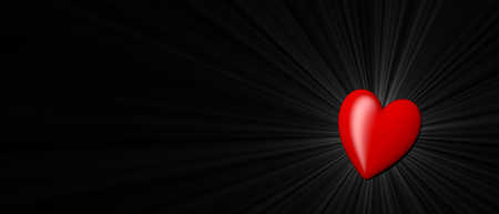 february 14th: red heart shape as symbol of love on valentines day on February, 14th