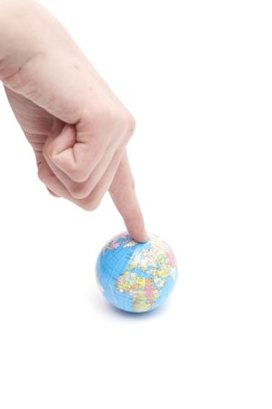 The globe in hands. Concept for environment conservation. Stock Photo - 6786728