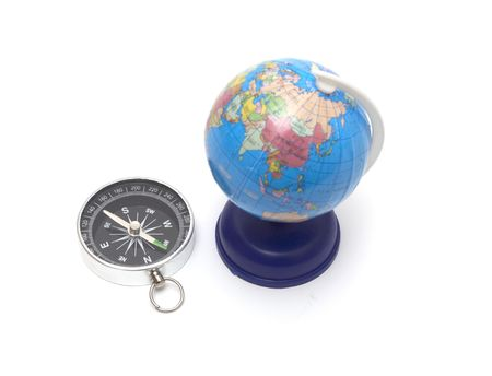 Compass and globe photo