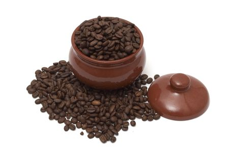 coffee beans in a pot photo