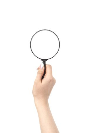 view magnifier hand take in fingers Stock Photo - 6784873