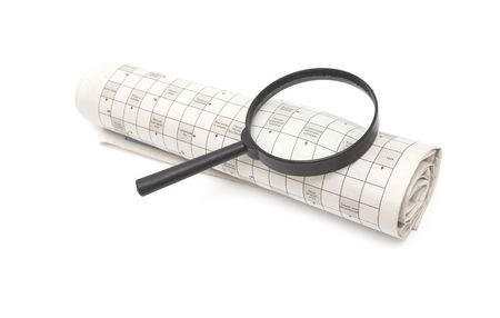Magnifying glass over a newspaper classified section Stock Photo - 6788483