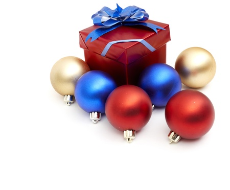 matt: matt christmas balls  Stock Photo