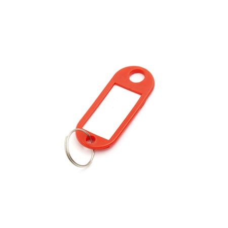 key fob: close up of a key fob on white background Stock Photo