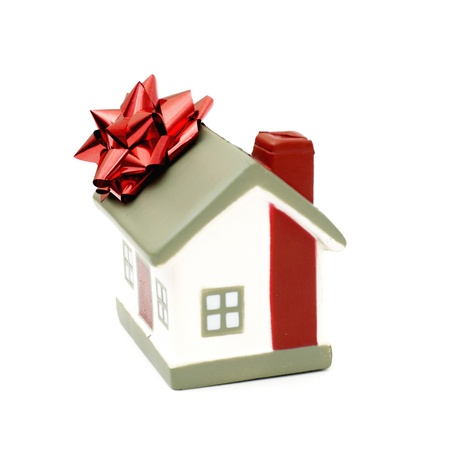 House as a gift for you isolated on white photo