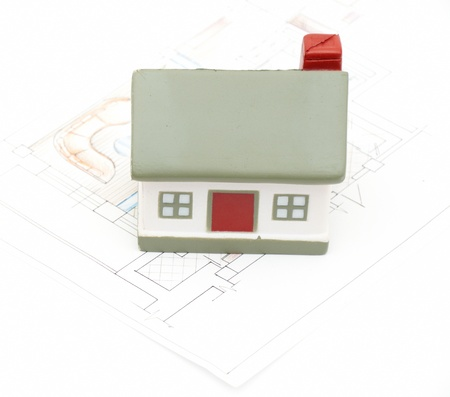 miniature house with various  (i am author of this drawing) Stock Photo - 8482143