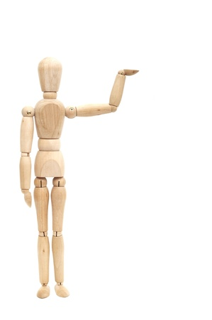 Wooden doll showing product, space to insert text or design Stock Photo - 8482082