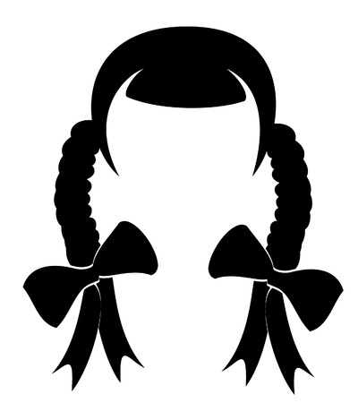 long nose:  illustration of a woman