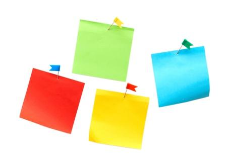 Reminder notes isolated on the white background Stock Photo - 8539518