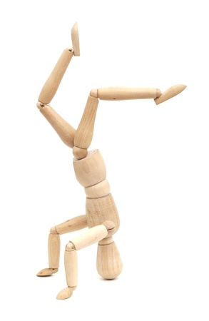 wooden figure: wooden figure concepts isolated on white background Stock Photo