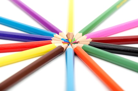 close up of color tips forming a wheel Stock Photo - 8540419