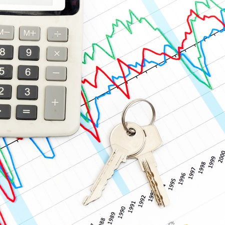 Home expenses, chrome key on chart diagram Stock Photo