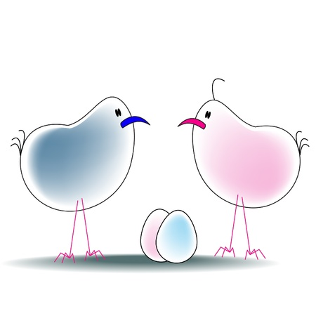 cartoon bird character isolated on white Vector