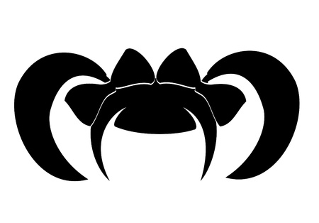 illustration of a woman hair icon. Vector