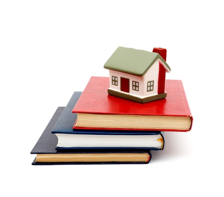 little house and books Stock Photo