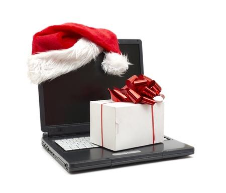 Santa Hat on a Laptop Stock Photo - 8818760