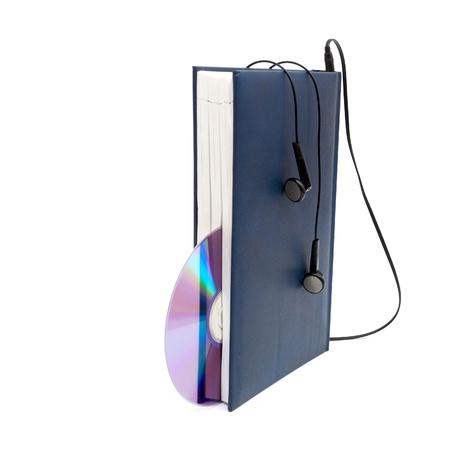 headphones and books (audio book concept) Stock Photo - 8814832