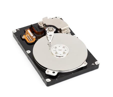 Opened computer harddisk isolated on white background Stock Photo - 8818829