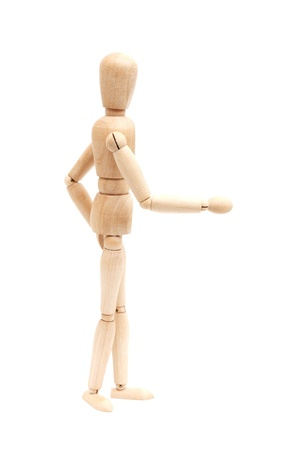 A wooden mannequin photo