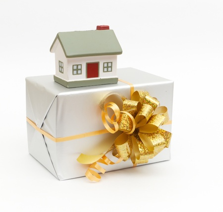 House as a gift for you on white photo