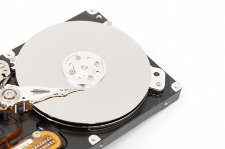 hard drive crash: of Hard disk drive HDD on white background with soft shadow