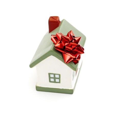 House gift for you isolated on white photo