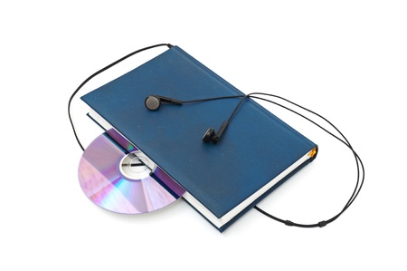 audio book concept isolated on white background photo