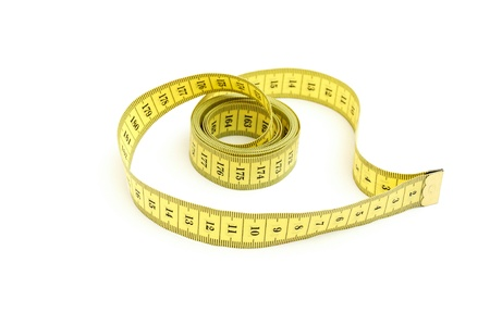 Measuring tape looking as heart isolated over white background Stock Photo - 9989977